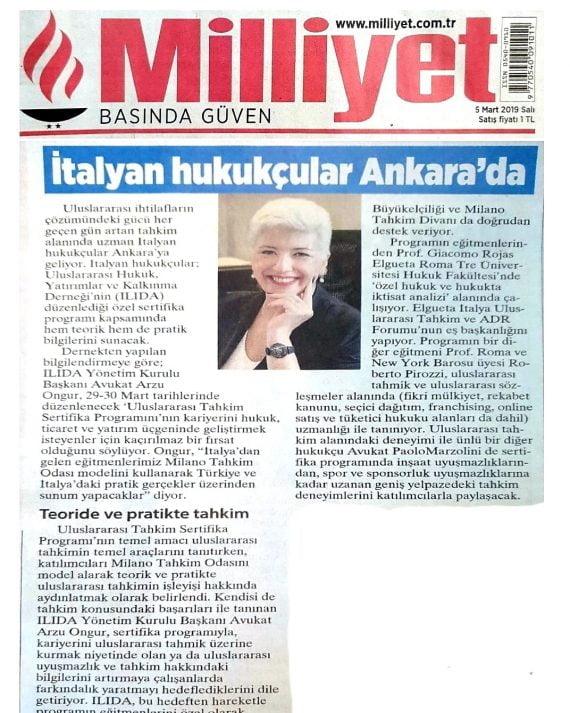 Milliyet Ankara news portal
