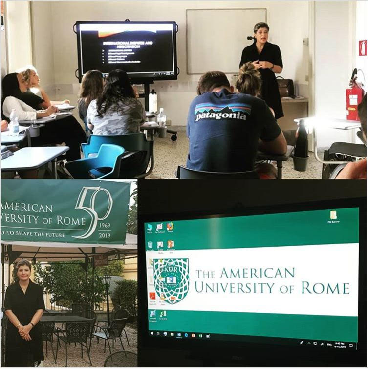 Delivered a lecture in American University of Rome